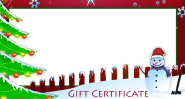 Free Christmas Gift Certificate Cards - Customize and Print